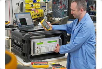 5502A Multi-Product Calibrator in the factory