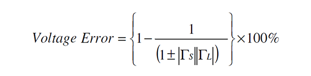 Alternatively the form of the expression for mis-match error in terms of voltage can be used, as shown below.